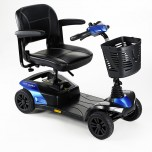 Scooter électrique bleu Colibri Outlook Invacare